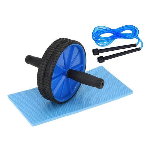 Kit Fitness Rueda Abdominales Doble + Soga Saltar Gimnasia