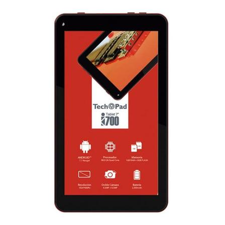 "Tablet  Tech Pad i700 7"" 8GB roja con 1GB de memoria RAM"