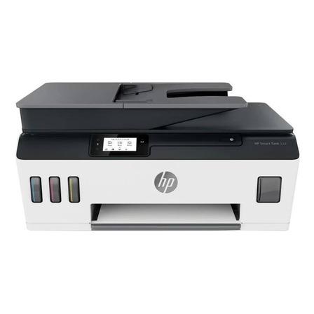 Impresora a color HP Smart Tank 533 con wifi blanca y negra 100V/240V