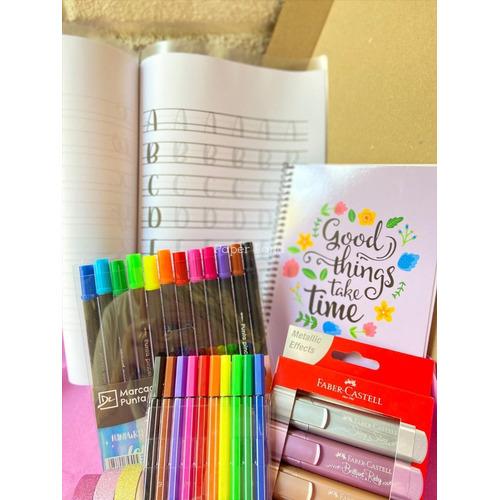 Pack Lettering Para Aprender O Practicar. 12 Punta Pincel +