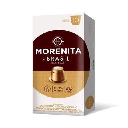 Cápsulas de café brasil La Morenita 10u