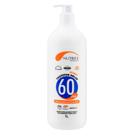 Protetor solar Nutriex Profissional  FPS60 1l