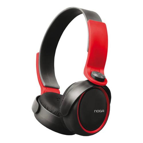Auriculares Noga NG-904 negro y rojo