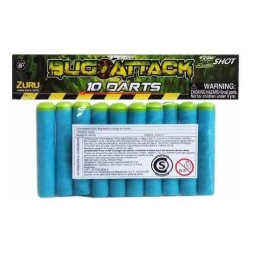 Recarga Dardos X Shot Bug Attack X 10 - Originales !!