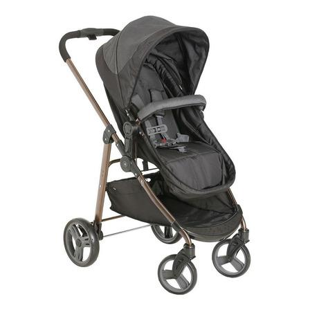 Carrinho de bebê Galzerano Olympus de passeio black com chassi marrom