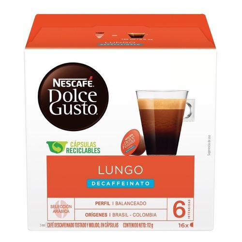 Cápsulas De Café Nescafé Dolce Gusto Lungo Descaffeinato