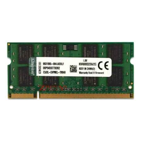 Memoria RAM ValueRAM color Verde  2GB 1 Kingston KVR800D2S6/2G