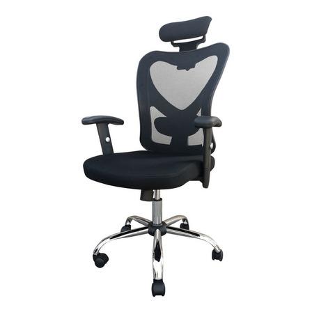 Silla de escritorio Desillas kepler ergonómica  negra con tapizado de tela y mesh