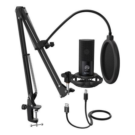 Microfone Fifine T669 condensador  cardióide preto