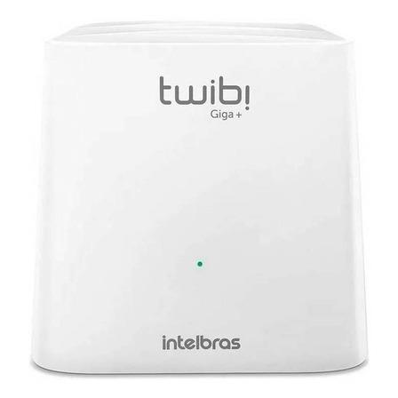 Roteador, Sistema Wi-Fi mesh Intelbras Kit Twibi Giga+ branco 100V/240V 2 unidades