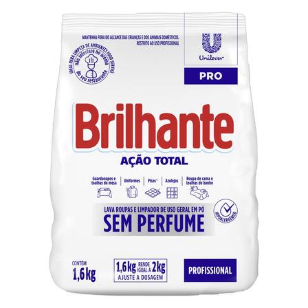 Sabão em pó Brilhante Ação Total Pro pacote 1.6kg