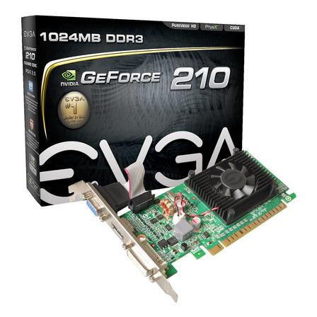 Placa de video Nvidia Evga  GeForce 200 Series 210 01G-P3-1313-KR 1GB
