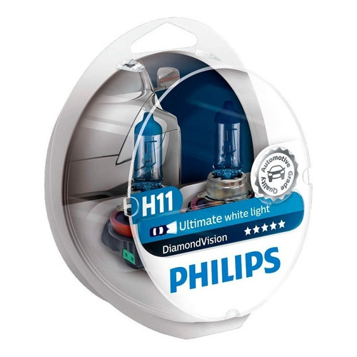 Lampara Halogena 12v 55w H11 Diamond Vision Philips