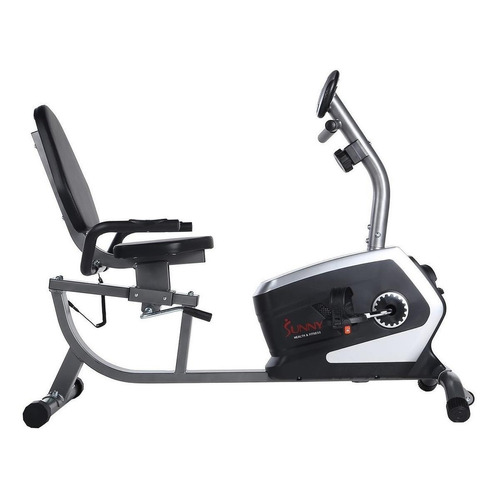 Bicicleta fija Sunny Health & Fitness SF-RB4616 horizontal gris y negra