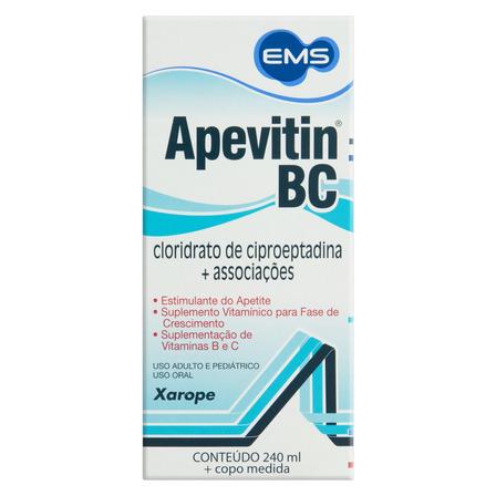 Xarope Apevitin BC EMS Caixa 240ml + Copo Medida