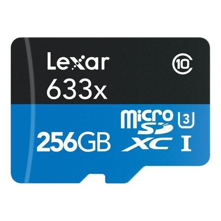 Cartão de memória Lexar LSDMI256GBB-633A High-Performance 633x com adaptador SD 256GB