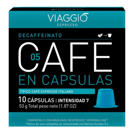 Cápsulas de café descafeinado Viaggio 10u
