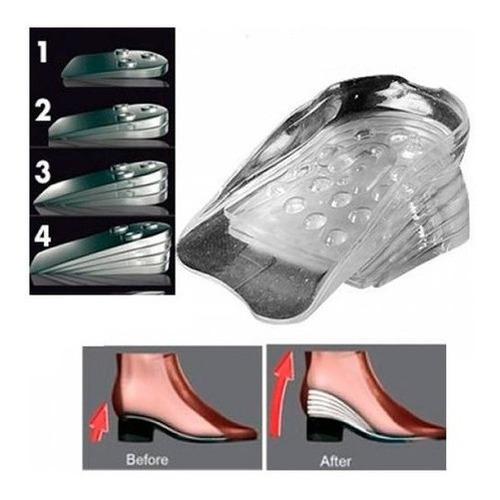 Plantilla Aumenta Estatura Tamaño 5cm Sillicona Zapato Ortop