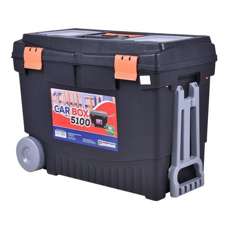 Caixa de ferramentas Arqplast Car Box 5100 de plástico com rodas 30cm x 59cm x 41.5cm preta