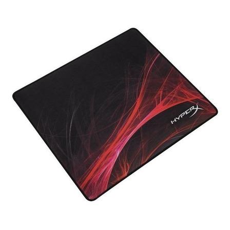 Mouse Pad gamer HyperX Speed Edition Fury S Pro de borracha e tecido g 400mm x 450mm x 4mm preto/vermelho