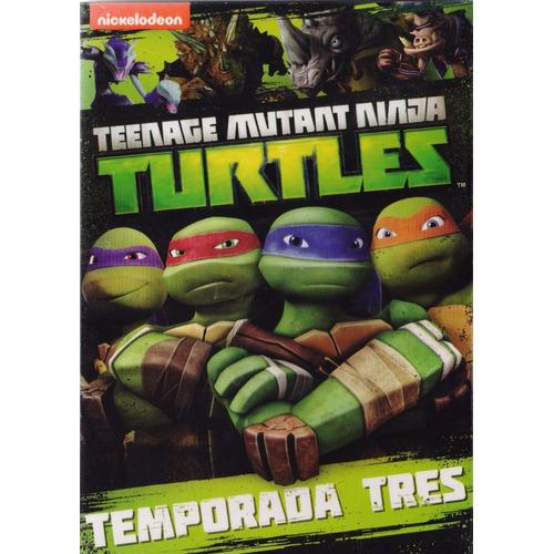 Turtles Teenage Mutant Ninja Tercera Temporada 3 Tres Dvd