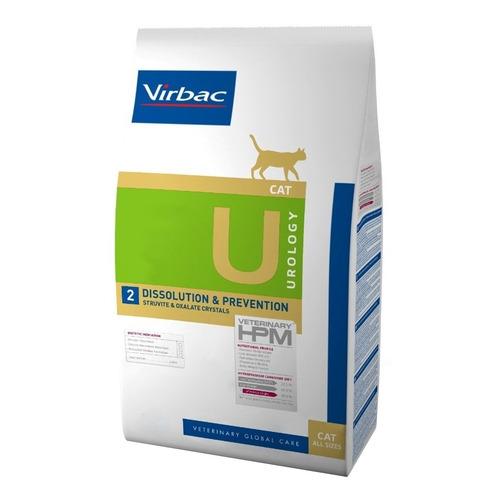 Alimento Virbac Veterinary HPM Urology Dissolution & Prevention para gato adulto sabor mix en bolsa de 7kg