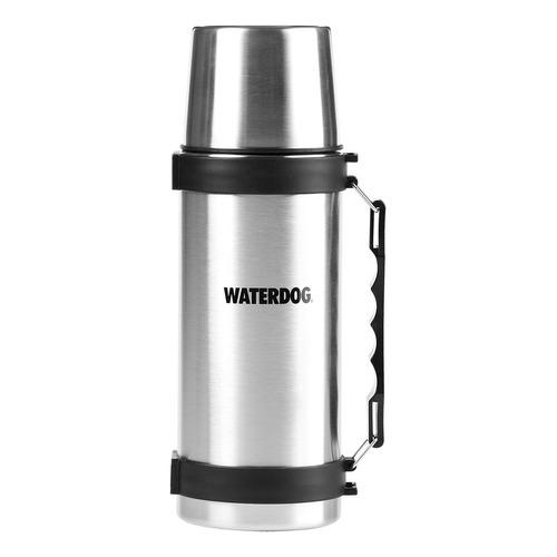 Termo Waterdog TA 1000 CC de acero inoxidable 1L plateado