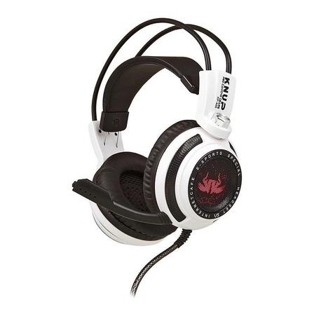 Fone de ouvido gamer Knup KP-400 branco e preto