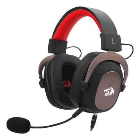 Fone de ouvido gamer Redragon H510 Zeus preto e vermelho