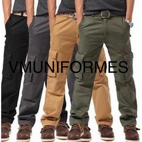 Pantalon Cargo Uniforme, Trabajo, Táctico, Reforzado Ae