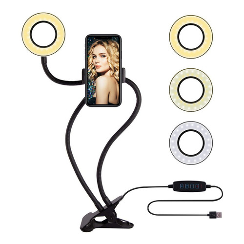 Anillo Aro Led Selfie Ring Celular Soporte Foto Luz Camara ®