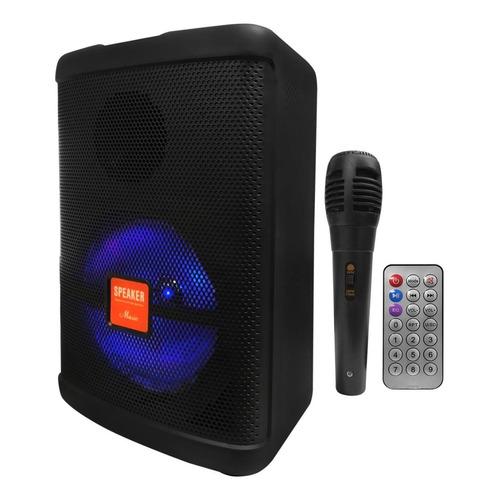 Parlante 8 Activo Luz Led Bateria Portatil Y Microfono Dimm