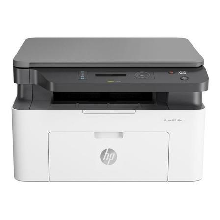 Impressora multifuncional HP LaserJet Pro 135W com wifi branca e preta 110V - 127V MFP 135w