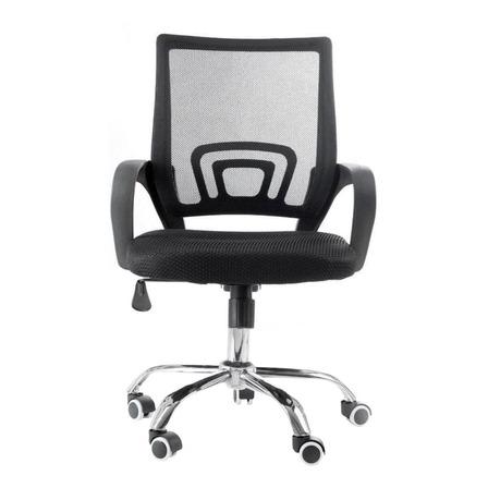 Cadeira de escritório Travel Max MB-6010  preta com estofado do tecido