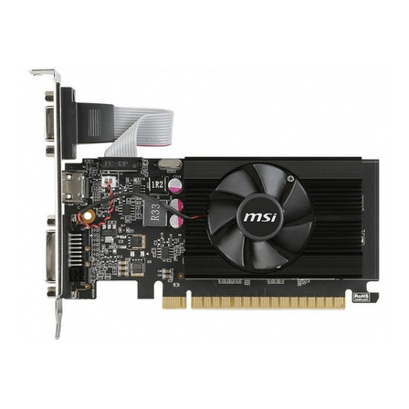 Placa de video Nvidia MSI  GeForce 700 Series GT 710 GT 710 2GD3 LP 2GB