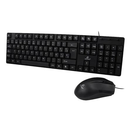 Kit de teclado y mouse Ele-Gate ST01 Español de color negro