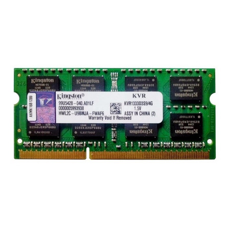 Memória RAM ValueRAM 4GB 1x4GB Kingston KVR1333D3S9/4G