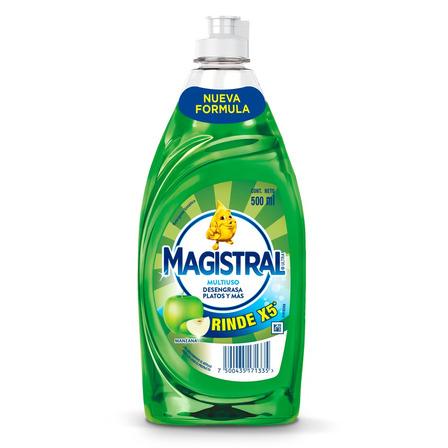 Detergente Magistral Multiuso Manzana sintético en botella 500mL