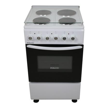 Cocina Philco PHCE051BDH eléctrica 4 hornallas  blanca 220V puerta  con visor