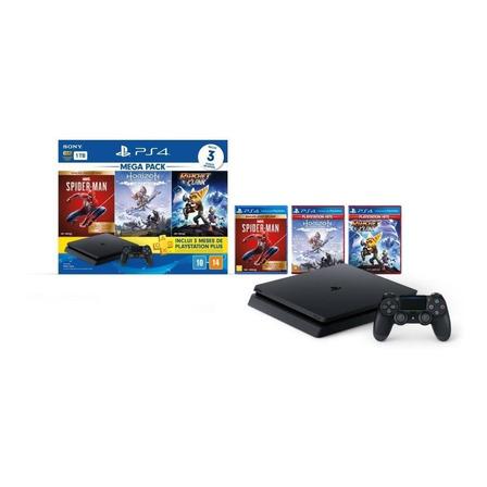 Sony PlayStation 4 Slim 1TB Marvel's Spider-Man/Horizon Zero Dawn Complete Edition/Ratchet & Clank preto
