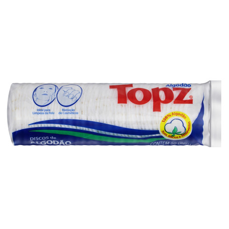 Algodão em Discos Topz Pacote 50 Unidades
