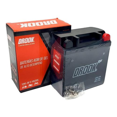 Bateria Motos Drook 12n5-3b Gel 12v 4ah Fz Xtz Ybr