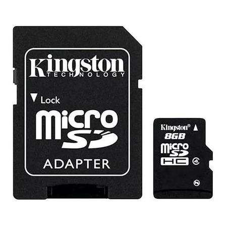 Cartão de memória Kingston SDC4 com adaptador SD 8GB