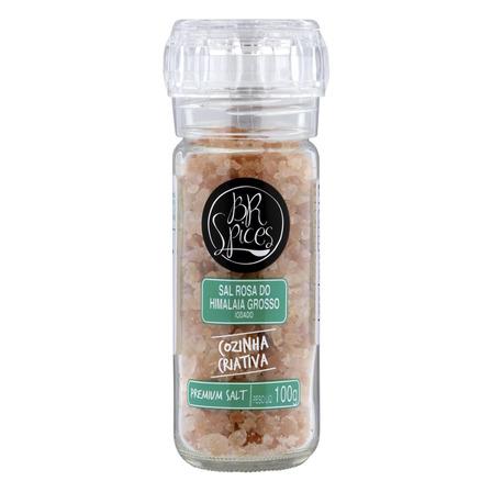 Sal rosa do himalaia grosso com moedor BR Spices Premium Salt sem glúten 100g