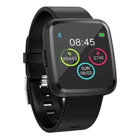 "Smartwatch Tedge H1104A 1.3"" caixa  preta pulseira  preta de  plástico e o arco de  liga de zinco H1104A"