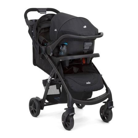 Cochecito de bebé Joie Muze travel system de paseo coal con chasis negro