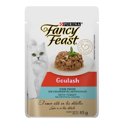 Sobre Comida Gato Purina Fancy Feast Goulash Pavo 85gr