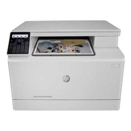 Impressora a cor multifuncional HP LaserJet Pro M180NW com wifi 110V branca