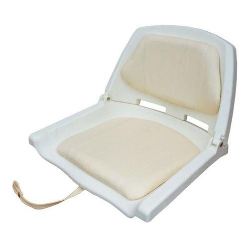 Butaca Plástica Blanca Con Respaldo Rebatible Y Almohadón