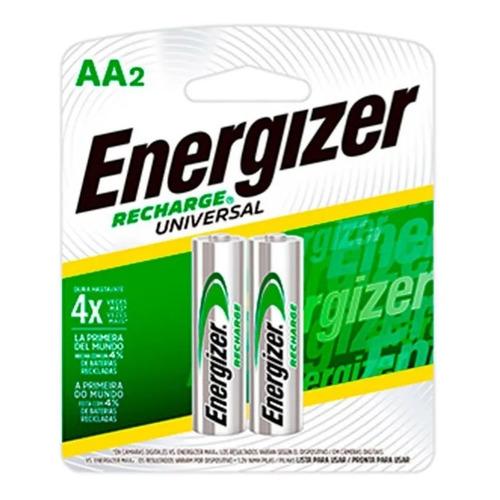 2 Pilas Baterías Recargables Energizer Aa 2.000 Mah